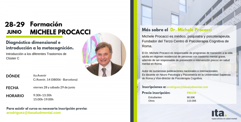Formación de Michele Procacci sobre el Diagnóstico Dimensional e introducción a la Metacognición