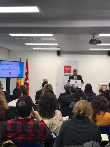 Presentación en la Secretaría General de Familias del balance anual del servicio en Adicciones Tecnológicas de la Comunidad de Madrid