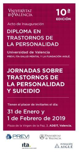 Ita Previ Valencia organiza las Jornadas en Trastornos de Personalidad y Suicidio