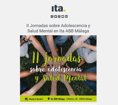 El centro ABB Málaga acoge las II Jornadas sobre adolescencia y salud mental de Ita