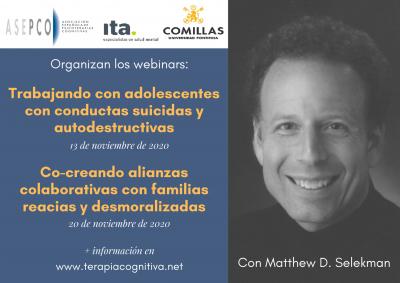 Webinars con Matthew D.Selekman: talleres de salud mental