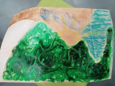 Arteterapia y analogías de cómo subir una montaña