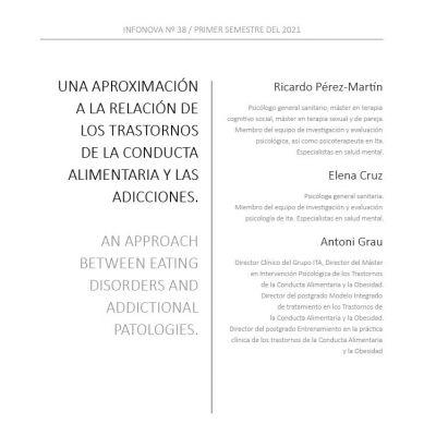 Una aproximación a la relación de los Trastornos de la Conducta Alimentaria y las Adicciones